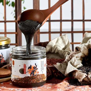 弘益傳香世家 香濃纖暢現磨紅藜麥黑芝麻醬300g/瓶(1瓶)