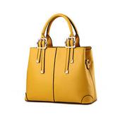《L.Elegant》時尚紐約手提肩背包(共二色)(卡其黃)