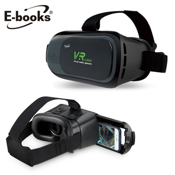 E-books V1 虛擬實境VR頭戴3D眼鏡(黑)
