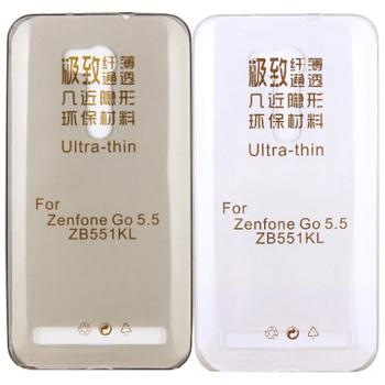 【KooPin力宏】ASUS ZenFone GO TV ZB551KL 5.5吋 極薄隱形保護套/清水套(透明黑)