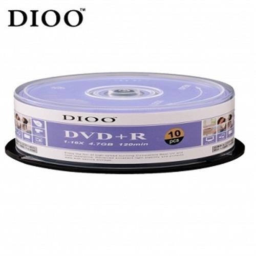 DIOO 16X DVD+R 10入布丁桶D-MDC011(顏色隨機出貨)