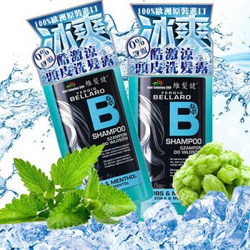 《維髪健》BELLARO酷激涼頭皮洗髮露500mlX2(500ml*2)