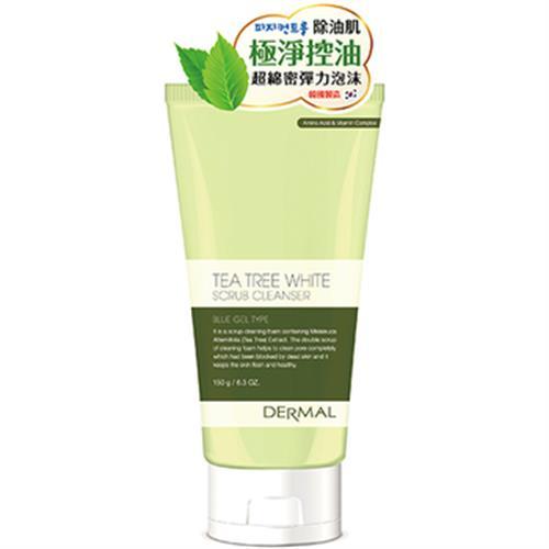 《韓國DERMAL》茶樹控油磨砂洗面乳(150g)