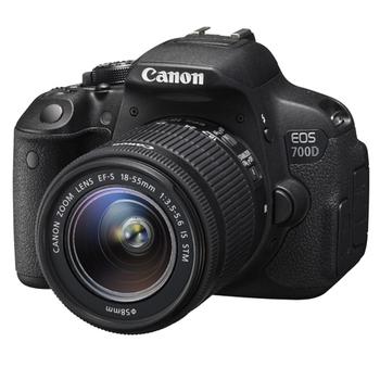 Canon EOS 700D +18-55mm STM (中文平輸)-送SD64GC10+副電+單眼包+減壓背帶+強力大吹球+清潔組+硬保(黑色)