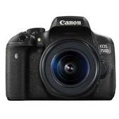 《CANON》EOS 750D+18-55mm 單鏡組*(中文平輸)-送強力大吹球清潔組+硬式保護貼(黑色)