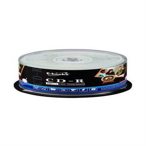 E-books 國際版 52X CD-R 10片桶 E-MDA031