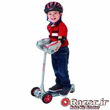 美國 Razor Jr. Robo Kix Scooter兒童三輪滑板車 - 機器人(灰)