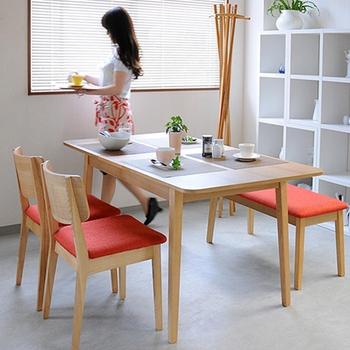 日本直人木業 START生活美學餐桌椅一桌2椅1長凳