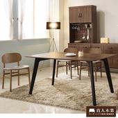《日本直人木業》Industry工業風全實木餐桌椅(一桌四椅)