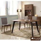《日本直人木業》Tendress 工業風全實木餐桌椅(一桌四椅)