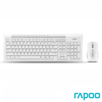 Rapoo 雷柏 8200P 5G無線光學鍵鼠組(白)