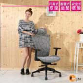 《BuyJM》萊恩全網升降扶手專利底盤辦公椅/電腦椅/主管椅(灰色)