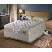 《ESSE御璽名床》馬來西亞三線2.5硬式乳膠床墊5x6.2尺 -雙人買再送記憶枕(單人X1 / 雙人以上X2)