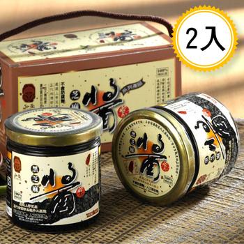 弘益傳香世家 古法研磨100%純黑芝麻醬300g/瓶(2瓶)