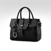 《L.Elegant》華麗耀眼時尚手提肩背包(共二色)(黑色)