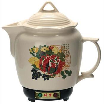 《婦寶》3.8L彩繪白瓷養生藥膳壺