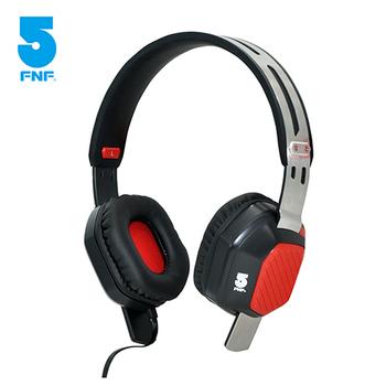 《ifive》不鏽鋼重低音全罩式耳機(鋼鐵紅)