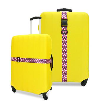 韓版 格紋行李箱束帶(粉色格紋)