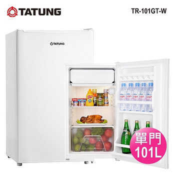 大同 101公升單門小冰箱(TR-101GT-W)含運+分期0利率