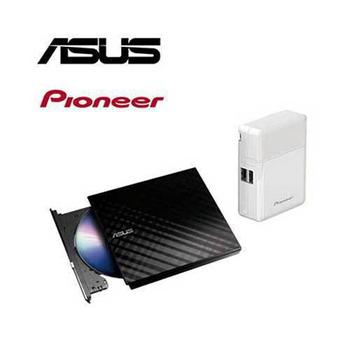 超值組合 華碩SDRW-08D2S-U LITE燒錄機+先鋒APS-AP3000-W行動電源
