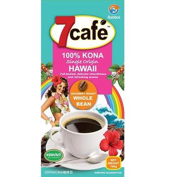 凌波怡即期品特賣2017.05.10效期 7cafe KONA咖啡豆198g(198g/袋)