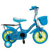 《BIKEONE》E2 EVO 12吋 臺灣製MIT 無毒 兒童腳踏車 / 四輪車(附籃子後貨架)(藍)