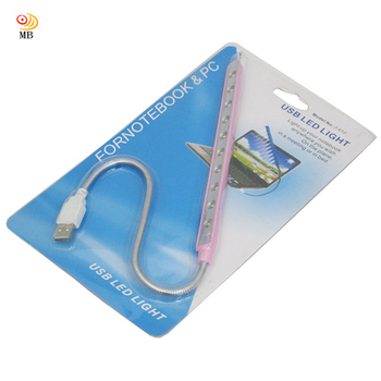 月陽 10LED自由蛇頸調整超白光USB燈檯燈閱讀燈小夜燈(JF10)
