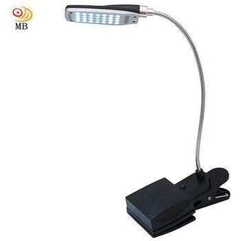 月陽 28LED超白光電池USB座夾兩用3段檯燈工作燈MD-889