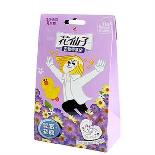 花仙子 卡通衣物香氛袋-祕密花園(10g*3/盒)