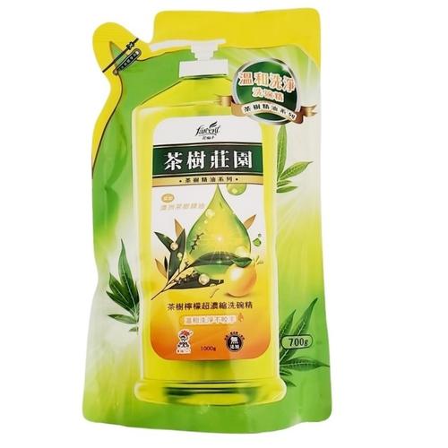 茶樹莊園 超濃縮洗碗精補充包-檸檬(包/700ml)