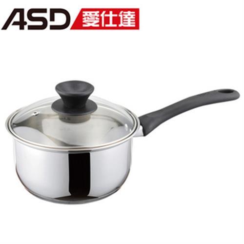 ASD 304不鏽鋼單把湯鍋18CM