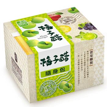 醋桶子 果醋隨身包-梅子醋10入/盒(梅子醋x1)