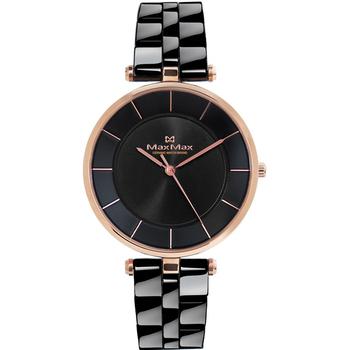 MAX MAX 簡約知性 時尚典雅陶瓷腕錶-40mm/黑(MAS5132-1)