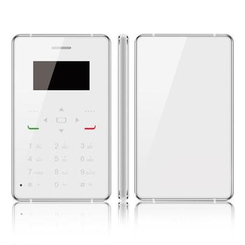 長江 H1超薄金屬迷你時尚名片手機-3G版(贈皮套)(天使白)