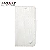 《MOXIE》防電磁波真皮編織手機皮套 | iphone6/6s PLUS 手機殼 掀蓋(iphone6/6s Plus 白)