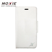 《MOXIE》防電磁波真皮編織手機皮套 | iphone6/6s 手機殼 掀蓋(iPhone6/6s 白)