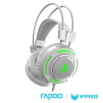 《雷柏 RAPOO》VPRO 炫光遊戲耳機VH200(白)