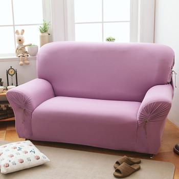 《歐卓拉》繽紛樂彈性沙發套4人座-六色任選(葡萄紫)