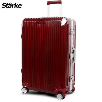 Starke 德國設計 28吋PC+ABS鏡面鋁框硬殼行李箱B系列B200(金屬紅)