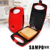 《聲寶SAMPO》烤吐司三明治機 TG-B1602L(甜心紅)