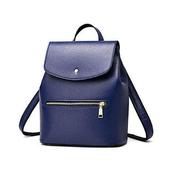 《L. Elegant》精緻光澤時尚單肩斜跨後背包(共三色)(藍色)