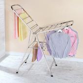 《家可》展翼型方管不鏽鋼折疊曬衣架