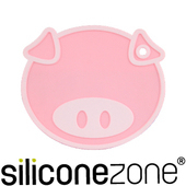 《Siliconezone》施理康耐熱矽膠粉紅小豬鍋墊