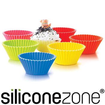 ★結帳現折★Siliconezone 5.8cm施理康耐熱造型杯子蛋糕模(12入裝)