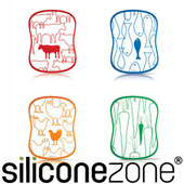 《Siliconezone》施理康食材分類衛生調理砧板(4入裝)
