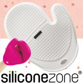 《Siliconezone》施理康方格防燙矽膠手套(白色)