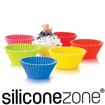 ★結帳現折★Siliconezone 8.5cm施理康耐熱造型杯子蛋糕模(6入裝)