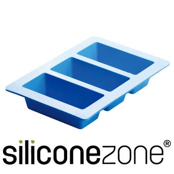 ★結帳現折★Siliconezone 施理康耐熱矽膠3格條型蛋糕模