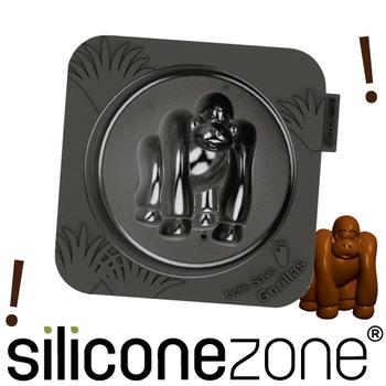 Siliconezone 施理康耐熱造型小蛋糕模(黑猩猩)