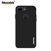 《Nexestek》Nexestek iPhone7 Plus全包覆超薄霧黑皮革漆保護殼